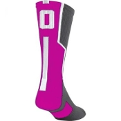 TCK Player ID Sock- Pink/Graphite/White